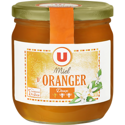 Miel d'oranger U, pot en verre de 500g