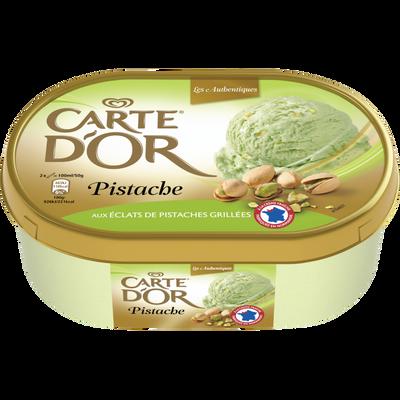 Crème glacée pistache avec éclats CARTE D'OR, 500g