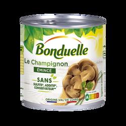 Champignons émincés au naturel sans sulfite BONDUELLE 1/2 230g