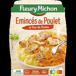 Emincés de poulet grillé et duo de purées FLEURY MICHON, 300g