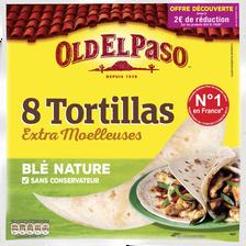 Tortillas de blé nature OLD EL PASO, 8 unités, 326g OD