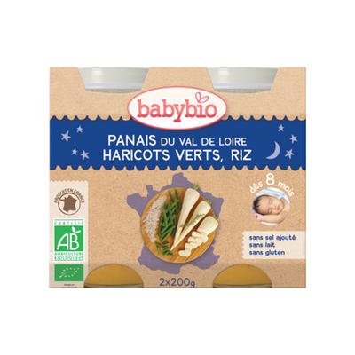 Pot Bonne nuit Panais Haricot et riz BABYBIO dès 8 mois 2x200g