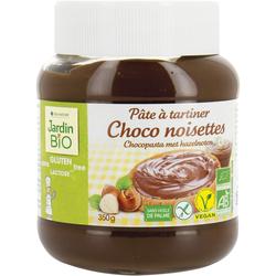 PATE A TARTINER CHOCO NOISETTE SANS GLUTEN JARDIN BIO