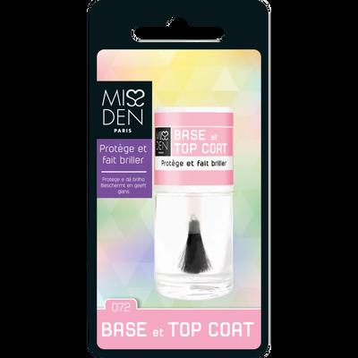 Vernis soin base & top coat 72 MISS DEN