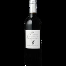 Vin rouge AOC Puisseguin St Emilion château La Rigodrie CVT, bouteillede 75cl