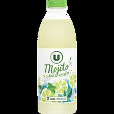 Boisson sans alcool à base de jus de citron / citron vert arômatisée àla menthe, flash pasteurisé réfrigéré, U, 1l
