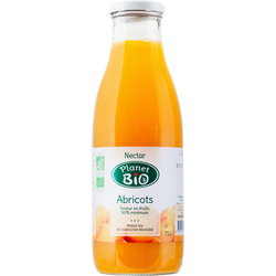 Nectar d'abricots Bio PLANET BIO, bouteille en verre de 75cl