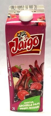 JAIGO COCKTAIL GROSEILLE PAYS BRICK 2L