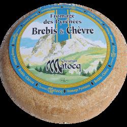 Chèvre brebis des Pyrénées lait pasteurisé 34%MG