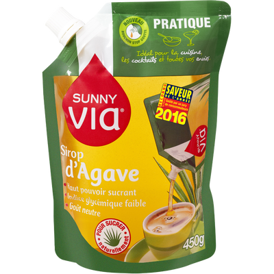Sirop d'agave SUNNY VIA, sachet de 450g