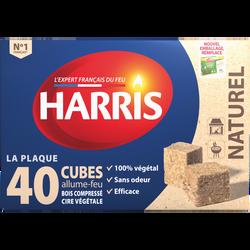 Cubes allume-feux naturels FSC 100% HARRIS, boîte de 40 unités