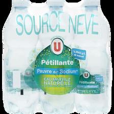 Eau pétillante pauvre en sodium U, 6 bouteilles en plastique, 50cl