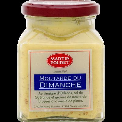 Moutarde d'Orléans du dimanche, aux graines du Val de Loire MARTIN POURET, pot de 200g