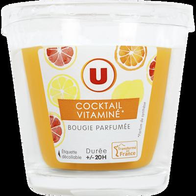 Bougie parfumée cocktail vitaminé durée +/-20H U, 90g