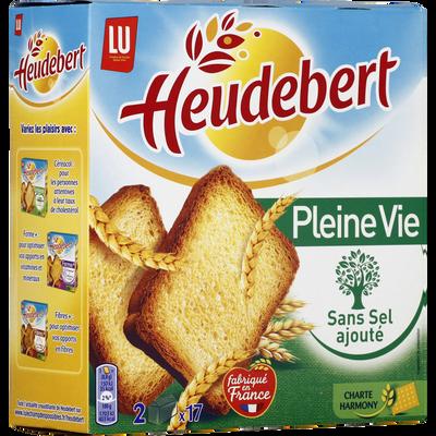 """Biscottes sans sel """"Pleine Vie"""" HEUDEBERT, 34 tranches, 300g"""