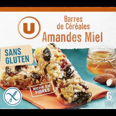 Barres de céréales fruits secs sans glutern U, boîte de 180g