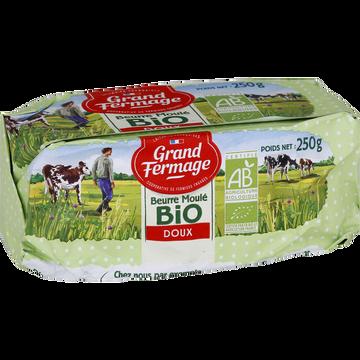 Grand Fermage Beurre Doux Moulé Bio 82% De Matière Grasse Grand Fermage, 250g