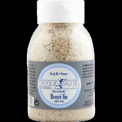 Sel marin broyé fin salière croque au sel, 250g