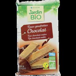 Fine gaufrette fourré chocolat bio JARDIN BIO 200g