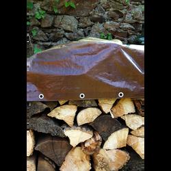 Bache bois U, 1,5x6m, 110g, avec oeillets