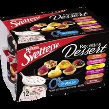 Spécialité laitière Recette dessert panaché 0% de MG SVELTESSE, 12x125g