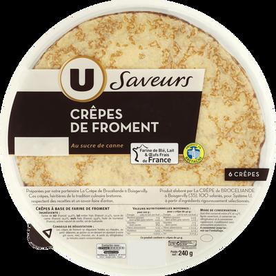 6 Crêpes de froment U LES SAVEURS, 240g
