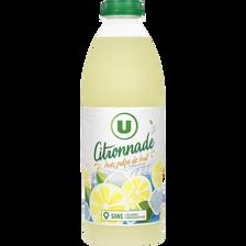 Citronnade avec pulpe de fruit U, bouteille de 1l