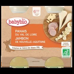 Panais jambon gruyère, BABYBIO, 2 pots de 200g
