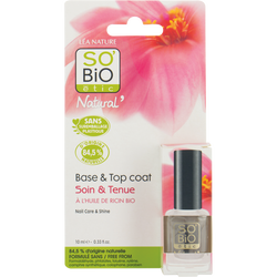 Vernis à ongles base transparente SO'BIO, blister, 10ml