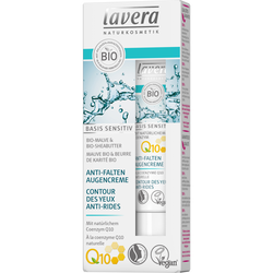 Contour des yeux anti rides basis sensitiv à la coenzyme Q10 bio LAVERA, tube de 15ml