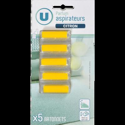 Bâtonnet pour aspirateur U Senteur citron SUP09, 5 unités