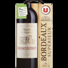 Vin rouge AOP Bordeaux Supérieur Chevalier de Landerac U, fontaine à vin de 5l