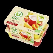 Fromage frais lait past.sucré aux fruits 5,7%mg U BIO 12x50g