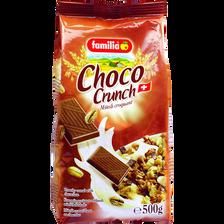 Muesli croquant saveur chocolat FAMILIA, 500g