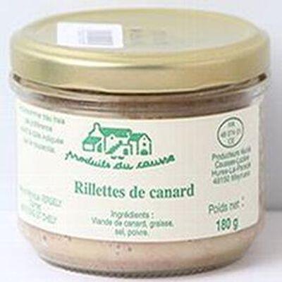 Rillettes de canard aux châtaignes, Produits du causse, 180g