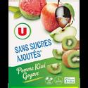 Kiwi Gourdes Pomme  Goyave Sans Sucre Ajouté U, 4x120g
