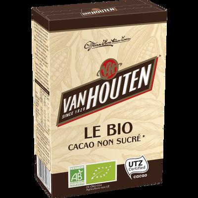 Cacao non sucré bio VAN HOUTEN, boîte de 125g