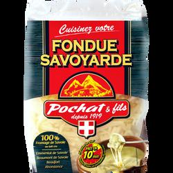 Préparation alimentaire  fondue savoyarde aux 4 fromages 33% de  matière grasse POCHAT & FILS, 400g