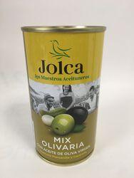 Jolca - Mix Olives Vertes et Noires entières Cornichons et Oignons doux - 350G