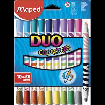 Feutre Duo MAPED, 10 unités, coloris assortis