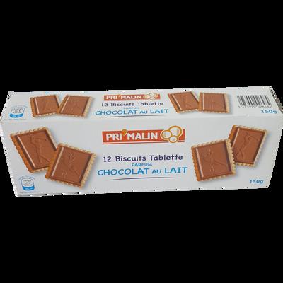 Biscuits avec tablette parfum chocolat lait,150g