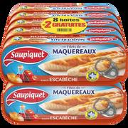 Saupiquet Filet De Maquereaux Sauce Escabèche Saupiquet, 8x1/4 + 2 Offertes