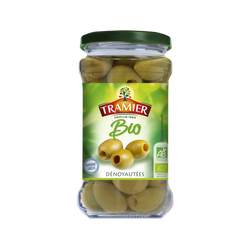 Olive verte dénoyautée Bio TRAMIER, 130g