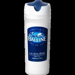 Sel de mer extra fin iodé LA BALEINE, boîte de 125g
