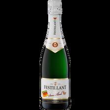 Festillant Vin Blanc Effervescent Désalcoolisé  À Base De Vin, 75cl