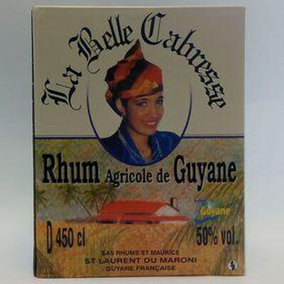 RHUM BLANC AGRICOL LA BELLE CABRESSE 50° CUBE.4,5L