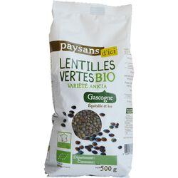 Lentilles vertes de Gascogne bio PAYSANS D'ICI