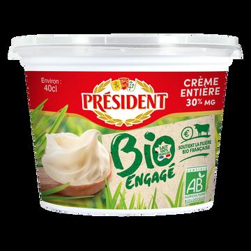 Président Crème Fraîche Épaisse Biologique 30% De Matière Grasse President, 40cl