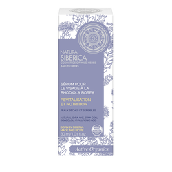 Sérum pour le visage nutrition et hydration à la rhodiola rosea, NATURA SIBERICA, tube de 30ml