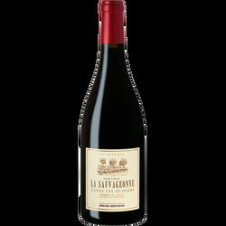 Vin rouge AOP Coteaux du Languedoc Terrasses du Larzac La Sauvageonnecuvée Les Oliviers, 75cl